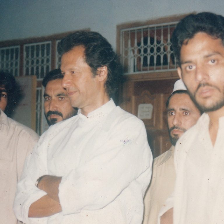 Mr. Imran Khan with Gul Akbar During Organization & Centre Visit.